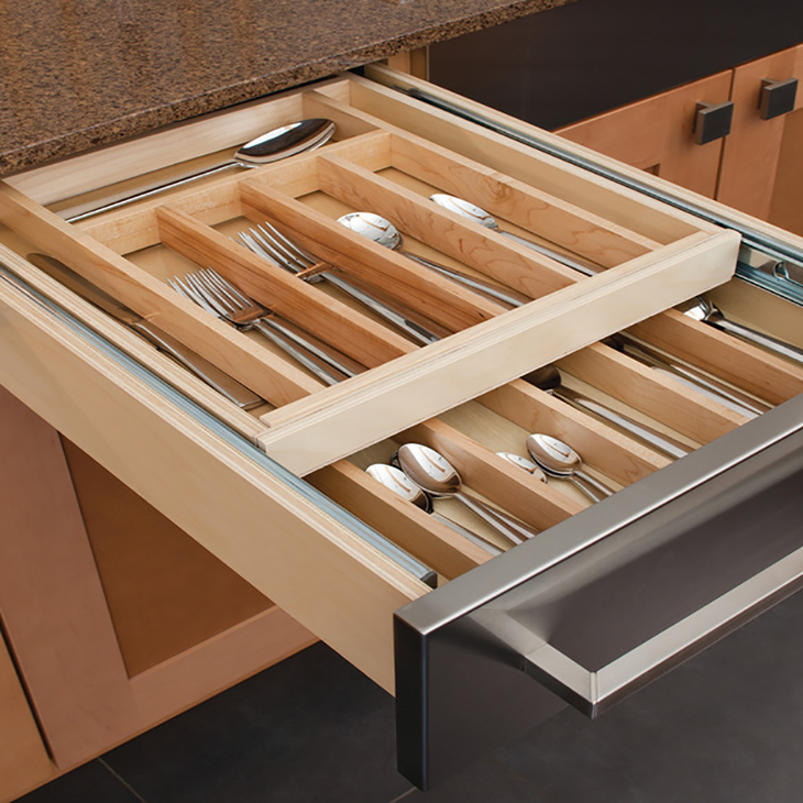 Double Cutlery, Drawer Insert