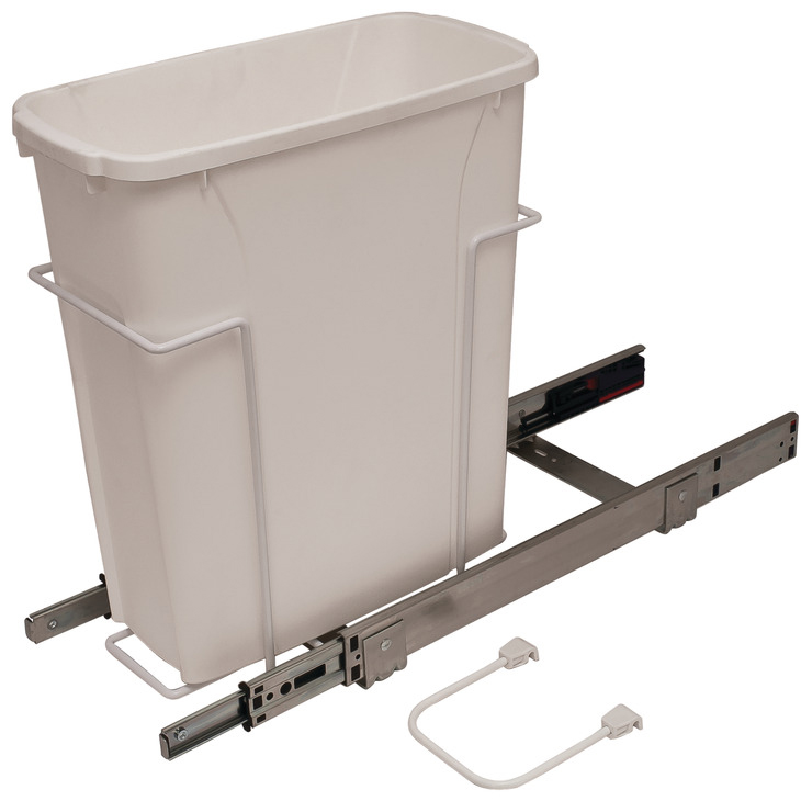 Single White 50 Quart Pull-Out