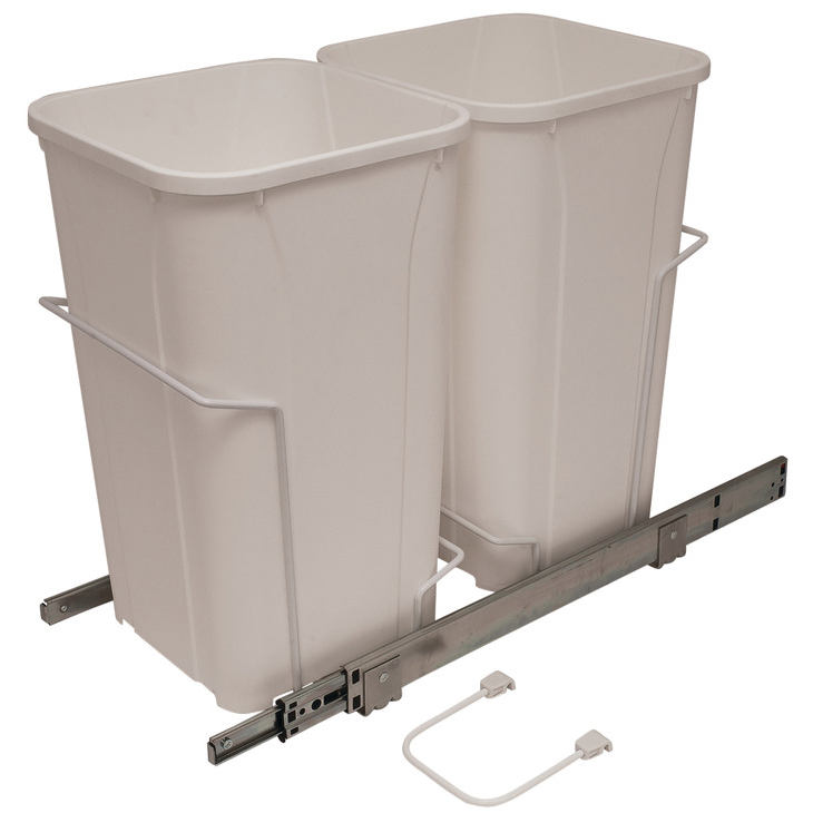 Double White 40 Quart Pull-Out