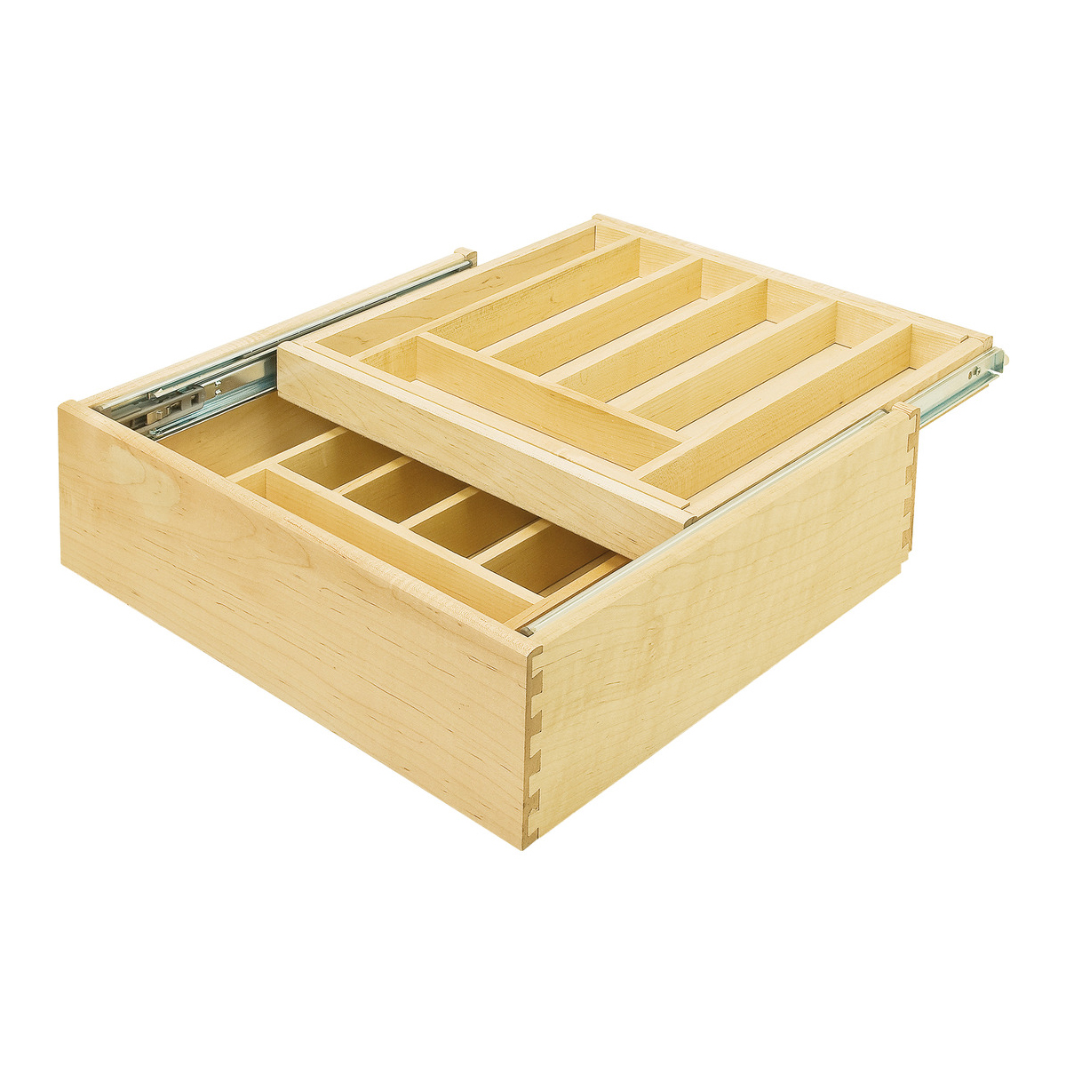 Double Cutlery, Drawer Insert Maple (11 1/2 Inch)