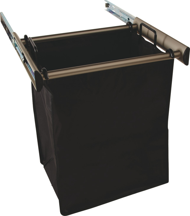 Bronze Pull-Out Hamper, 1lg Bag 18 Inches