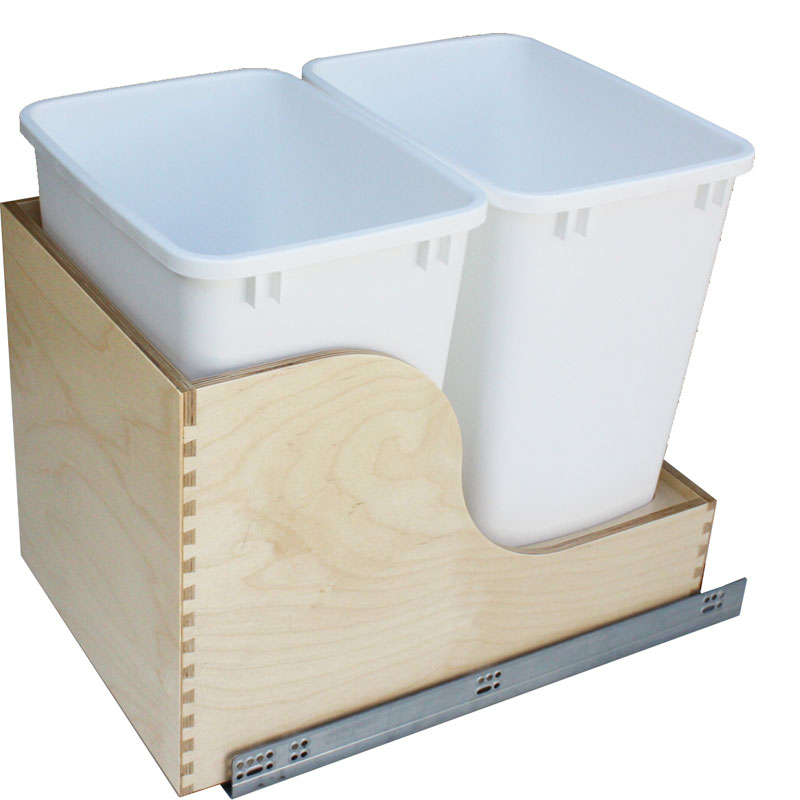 Double 35qt Waste Container with Undermount Slides (Soft)