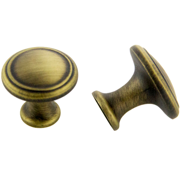 Antique Satin Brass Knob 30mm