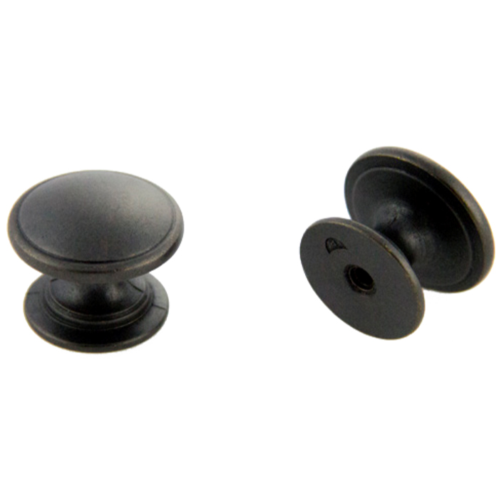 Weathered Black Knob 32mm