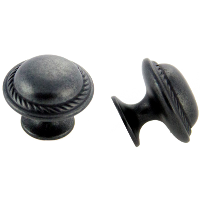 Weathered Black Knob 30mm