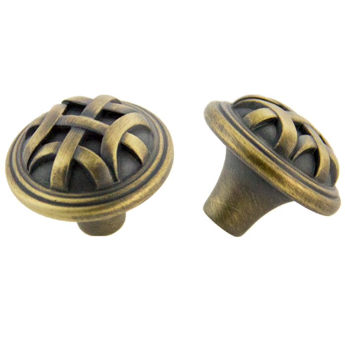 Antique Satin Brass Knob 32mm