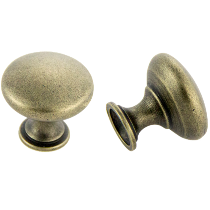 Antique Brass Knob 30mm