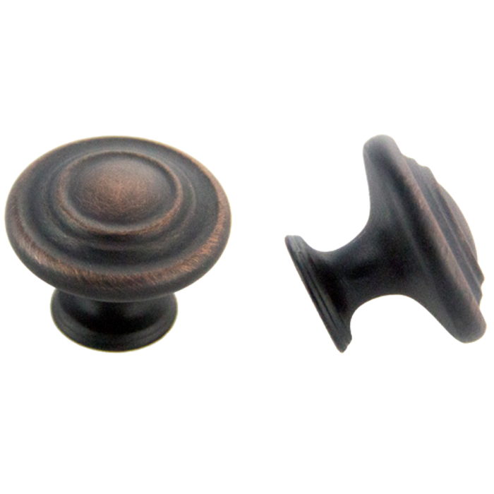 Oil Brushed Bronze Knob 1-3/8\