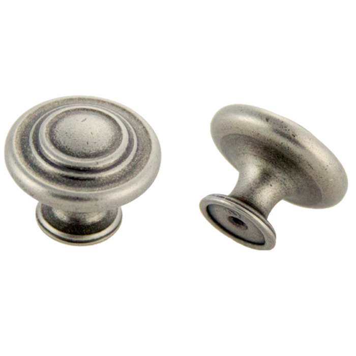 Weathered Nickel Knob 1-3/8\