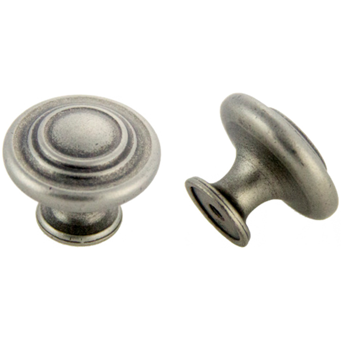Antique Silver Knob 1-3/8\