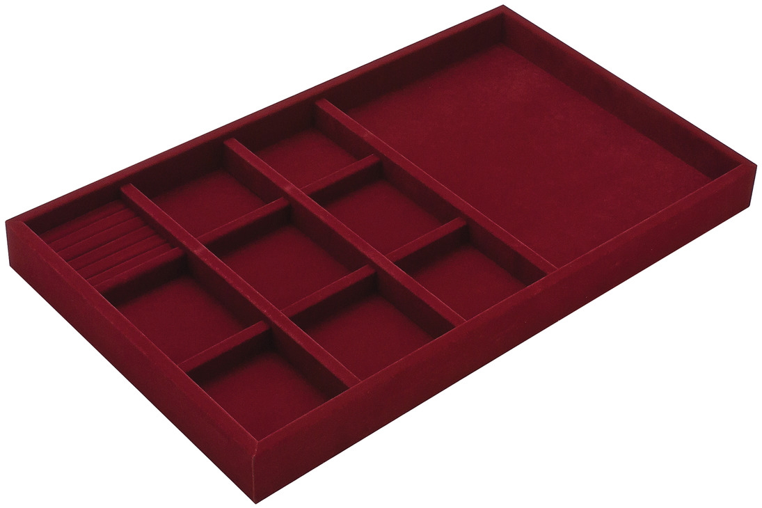 Maroon Jewelry Tray