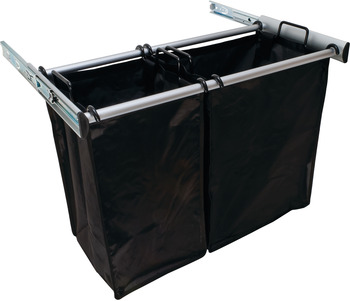 Aluminum Pull-Out Hamper, 1lg Bag 18 Inches