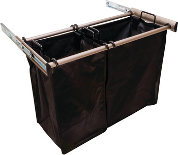 Nickel Pull-Out Hamper, 1lg Bag 18 Inches