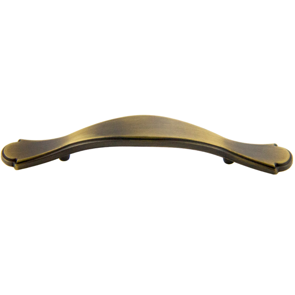 Antique Satin Brass Deco Pull 3\