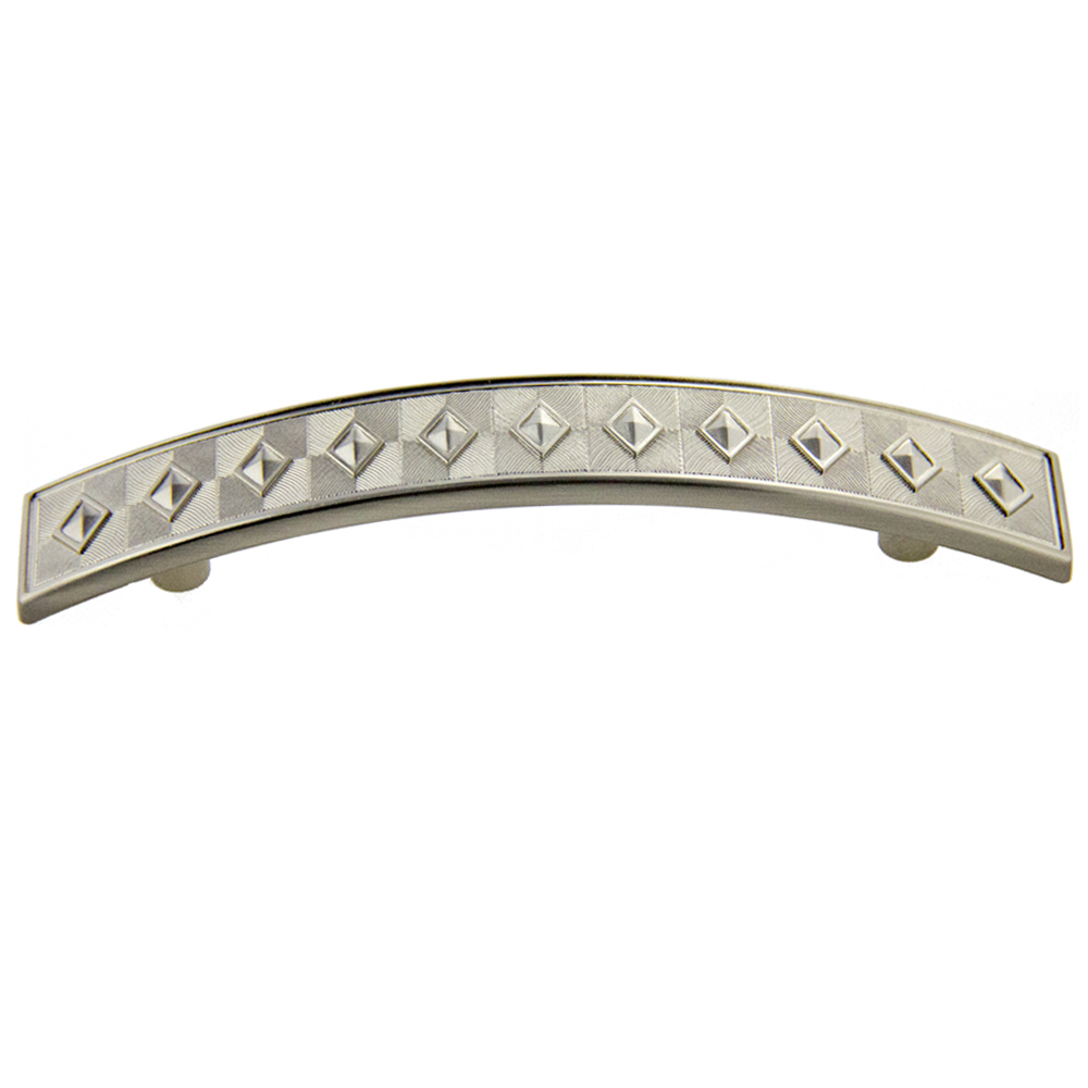 Satin Nickel Diamond Pull 96mm CC