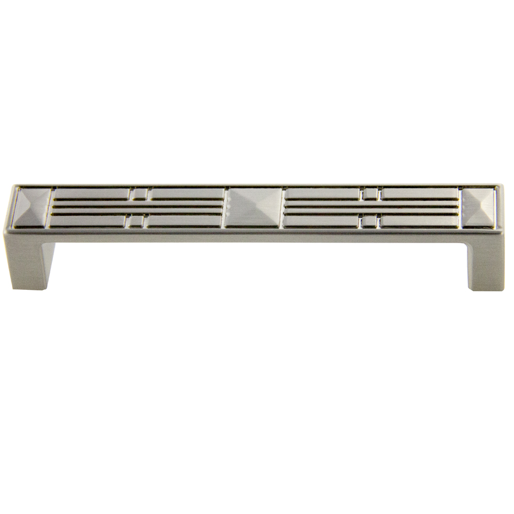 Satin Nickel Craftsman Pull 128mm CC