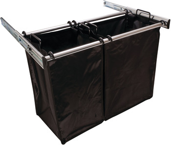 Chrome Pull-Out Hamper, 1lg Bag 18 Inches