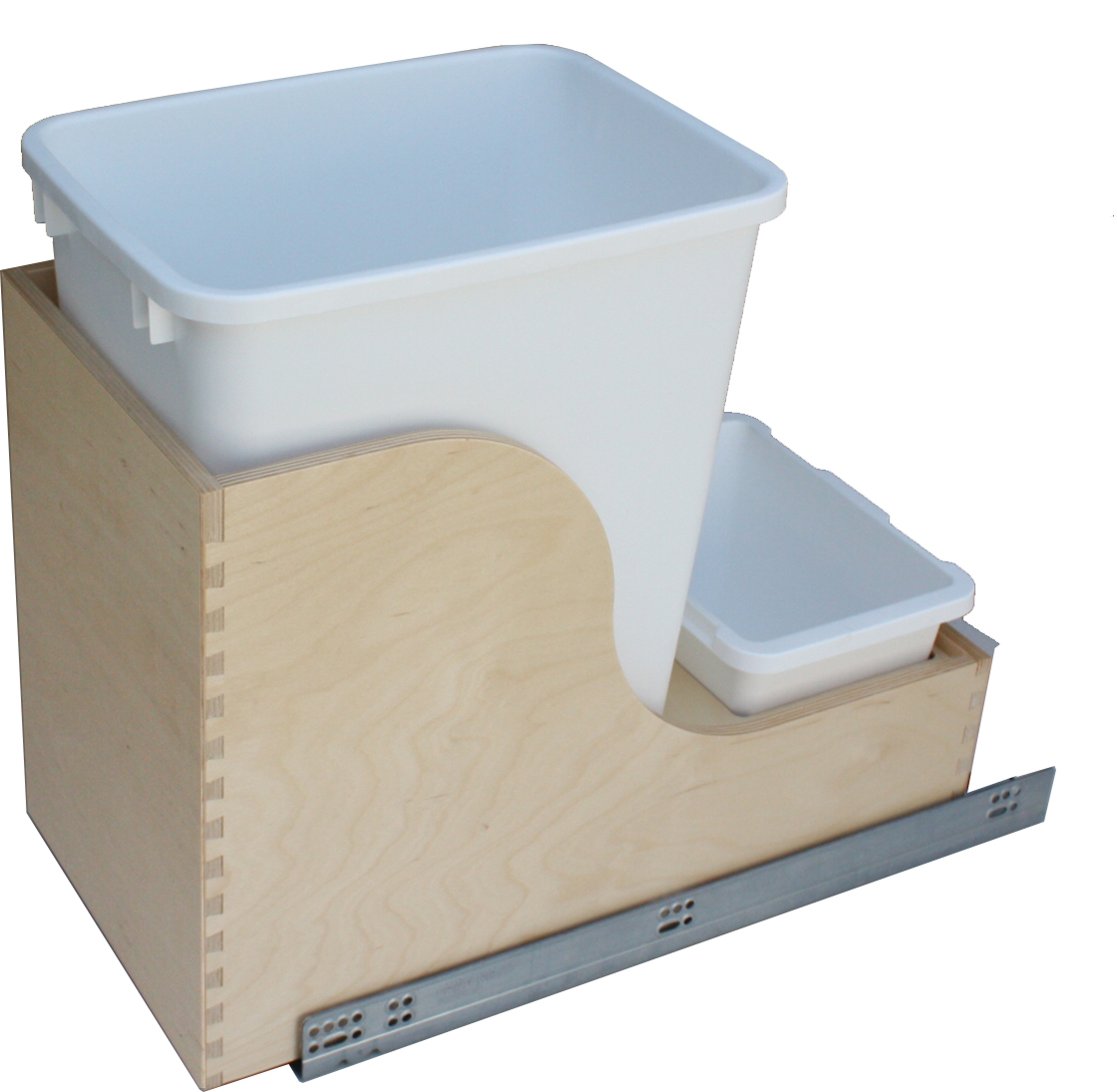 Single 35qt Waste Container with Undermount Slides (Soft)