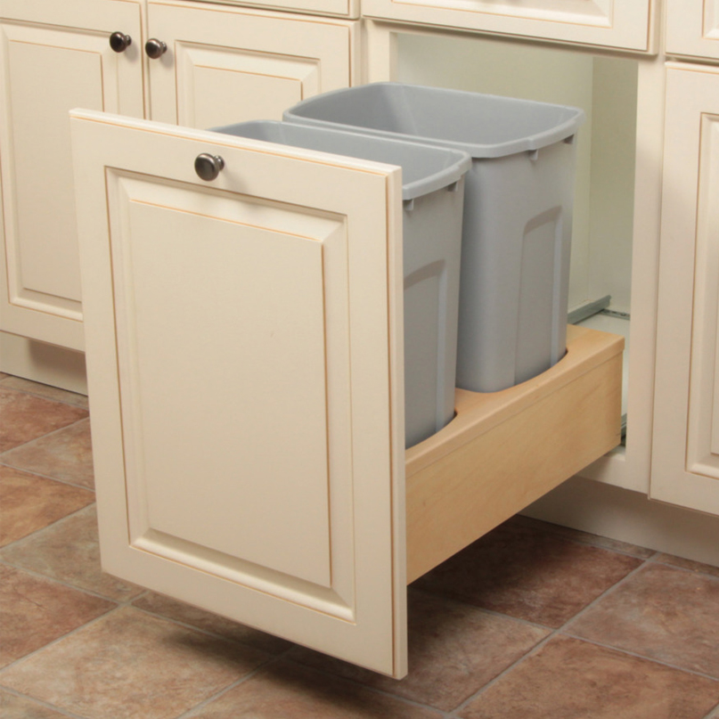 Wood Frame Under Mount Trash Pull Outs
