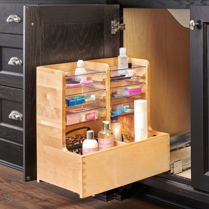 Maple L-Shaped Vanity Organizer